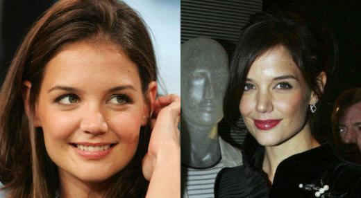 Katie Holmes Nose Job Katie Holmes Nose Job Before and After