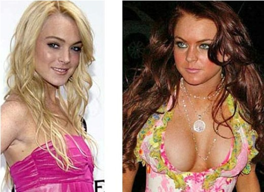 Lindsay Lohan Boob Job Lindsay Lohan Boob Job Before and After Picture