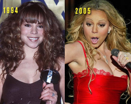 mariah carey boobs2 Mariah Carey Plastic Surgery Before and After