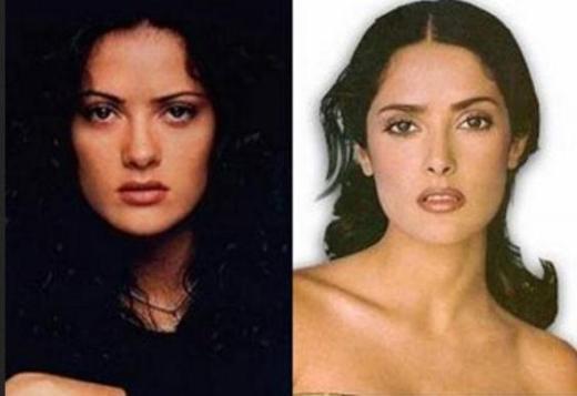 Salma Hayek Plastic Surgery Salma Hayek Plastic Surgery Rumors   Before and After