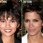 Halle Berry Nose Job Before and After Picture