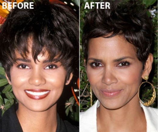Halle Berry Nose Job Halle Berry Nose Job Before and After Picture