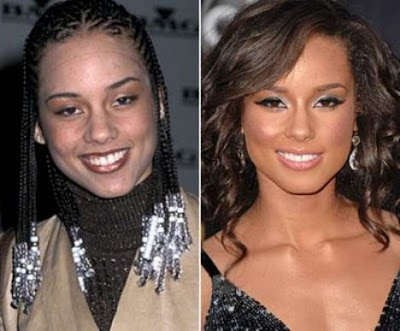 Alicia Keys Plastic Surgery Before and After Nose Job Alicia Keys Nose Job Before and After