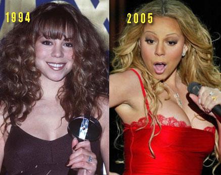 mariah carey boobs2 Mariah Carey Plastic Surgery Before and After
